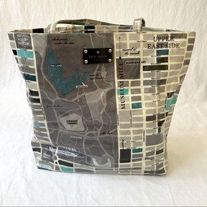 Kate Spade Daycation NYC Map tote bag